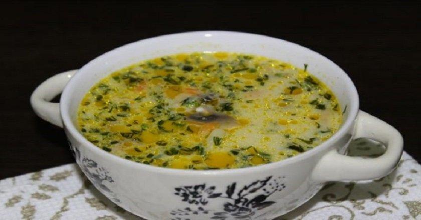 Сливочный грибной суп