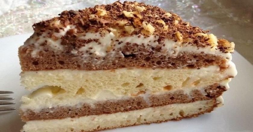 Сметанный торт «День и ночь»
