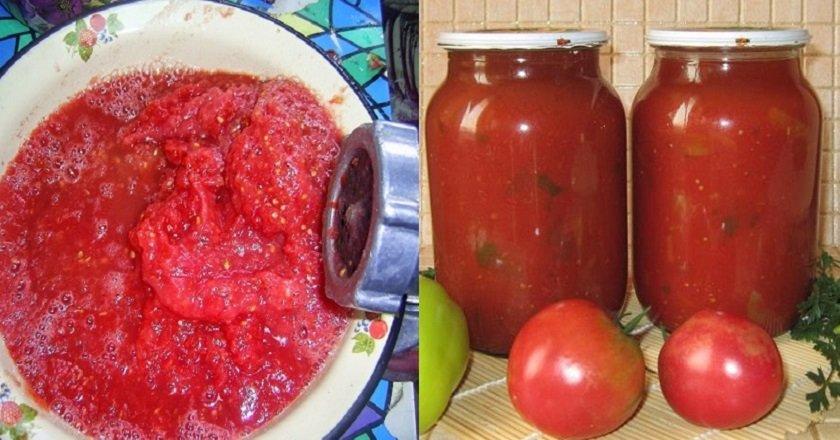 Соус из помидоров с болгарским перцем