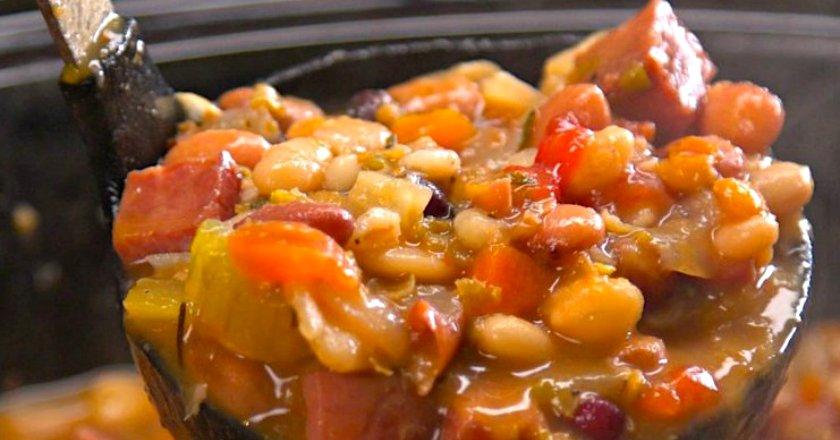 Суп квасолевий з шинкою подивитися рецепт