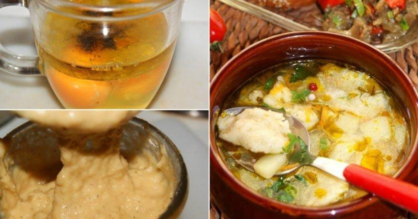 Суп з галушками на курячому бульйоні подивитися рецепт
