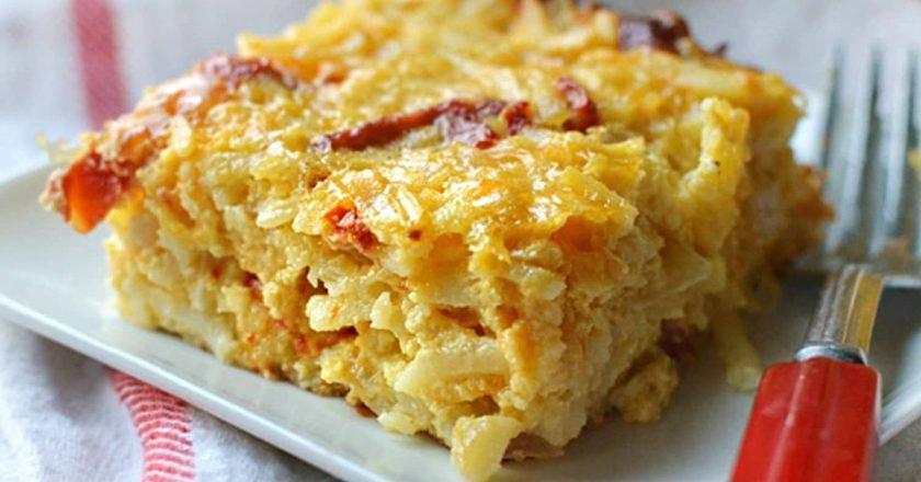 Сырная запеканка с картофелем