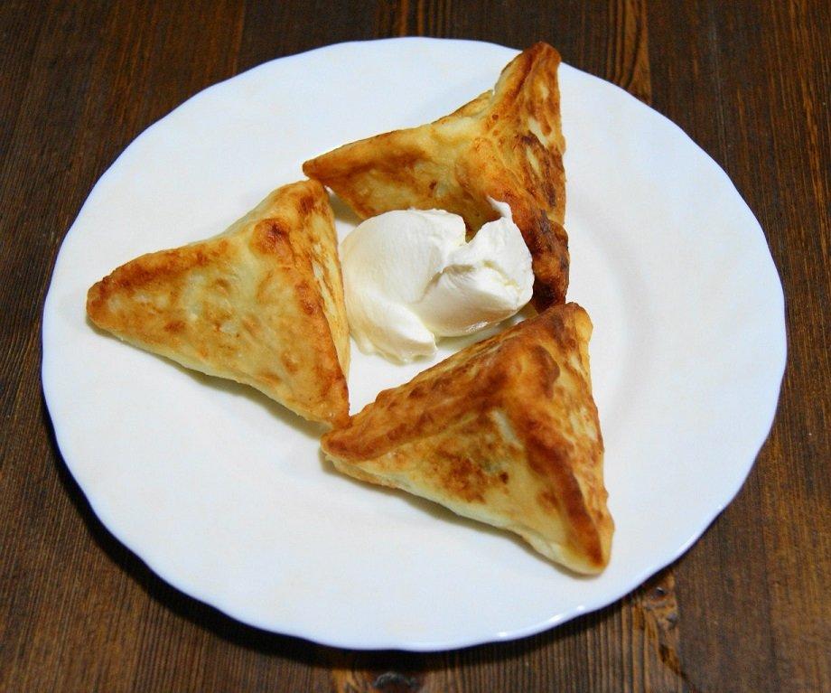 треугольные сырники