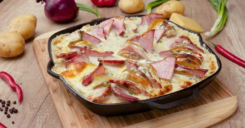 Сырный картофель