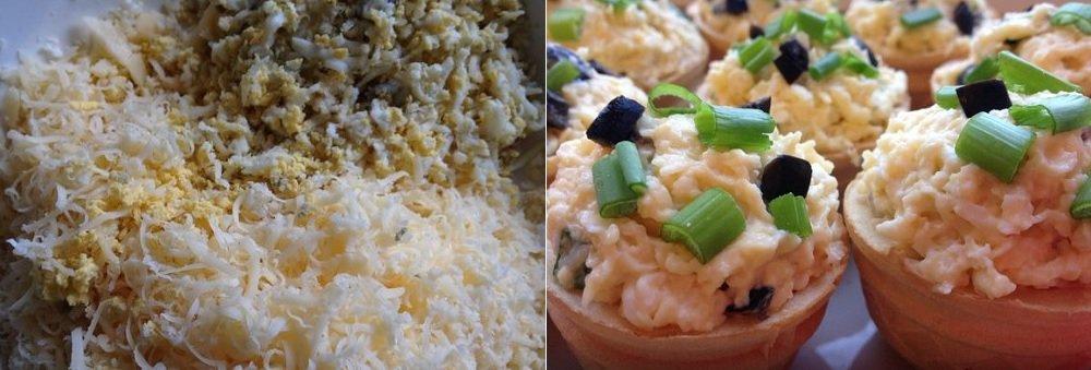 сырный салат с маслинами