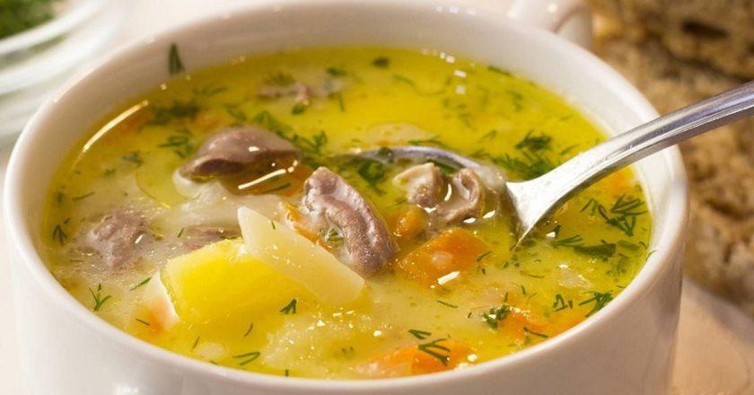 Сырный суп с сердечками