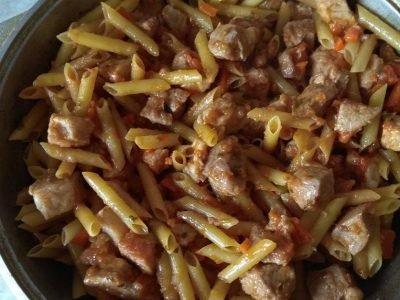 Татарские макароны с мясом