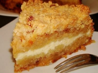 Тертый пирог на кукурузной муке