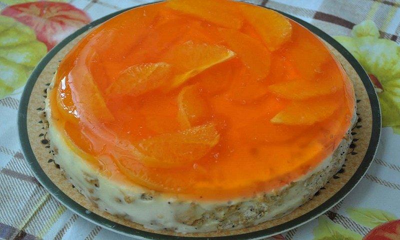 торт апельсинка с желе
