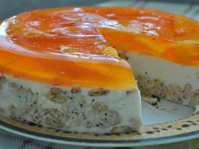 Торт без выпечки «Апельсинка»