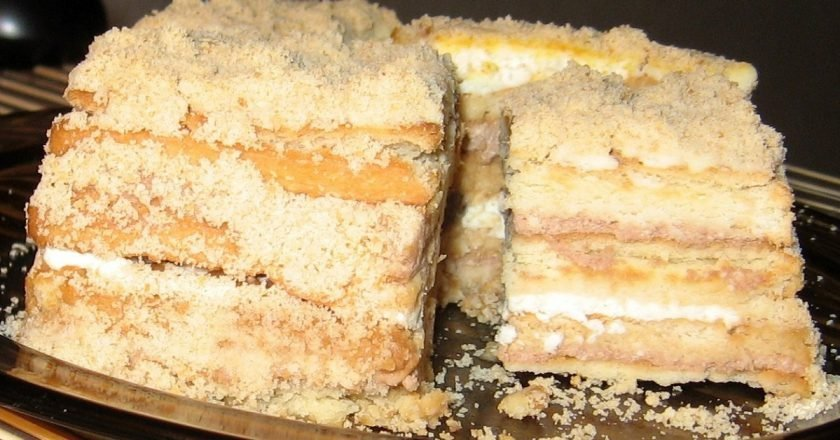 Торты без выпечки рецепты с пошаговым фото из печенья