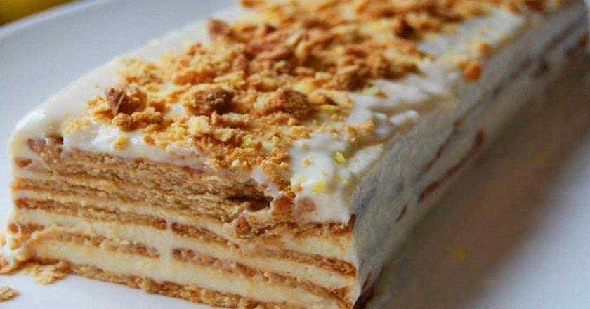 Торт з печива - готуємо з покроковими фото