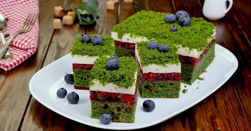 Торт «Лісовий мох» зі шпинатом подивитися рецепт