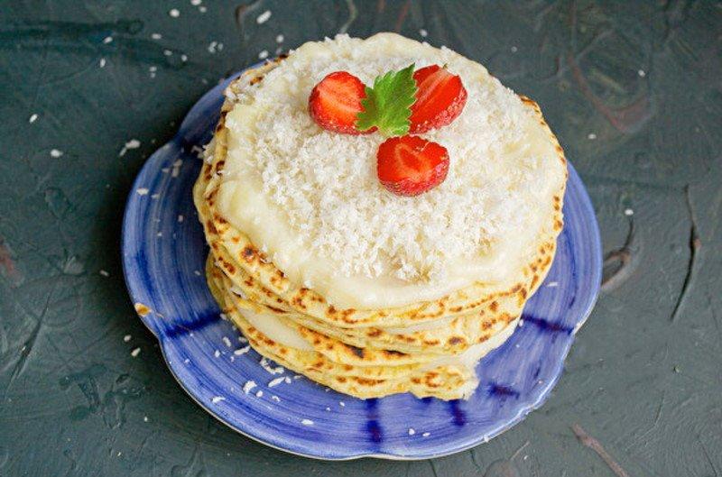 Домашній торт на сковороді з заварним кремом