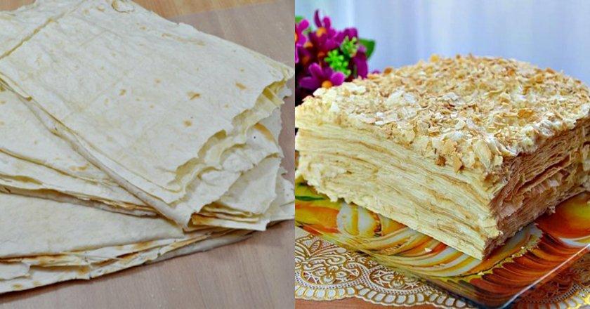 Торт «Наполеон» из лаваша