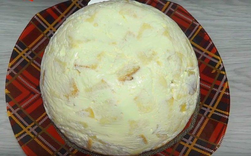 торт с двумя кремами