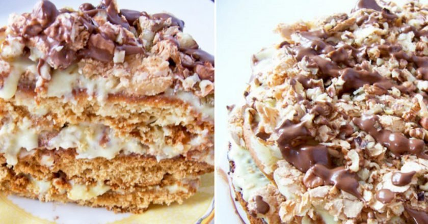 Торт «Пані Валевська» - готуємо з покроковими фото