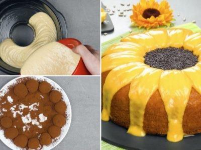 Торт «Подсолнух» с кремом