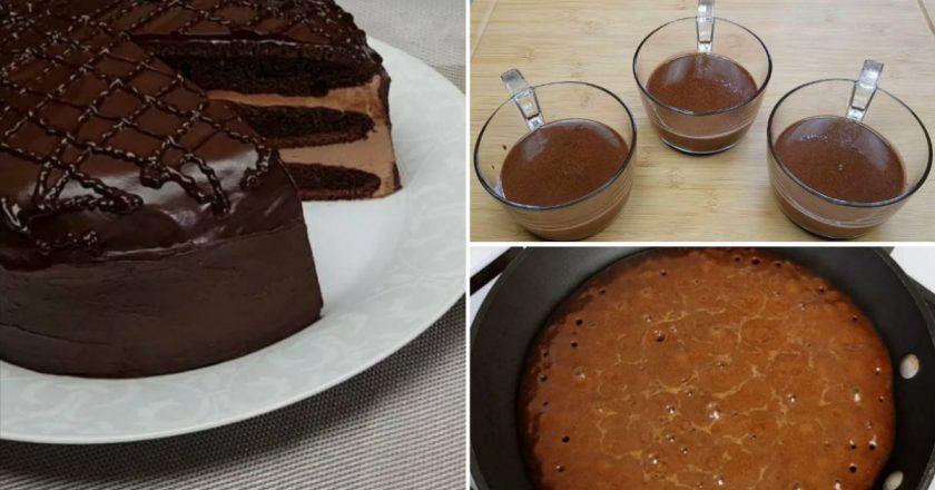 Домашний торт «Прага» на сковороде