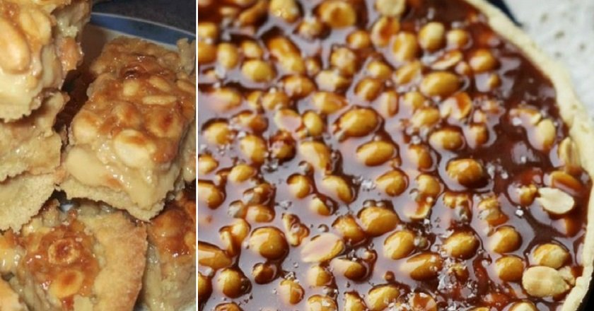 Торт с орехами и карамелью