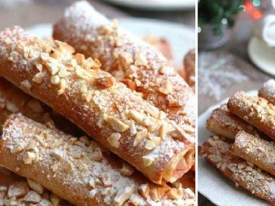 Трубочки из тостового хлеба