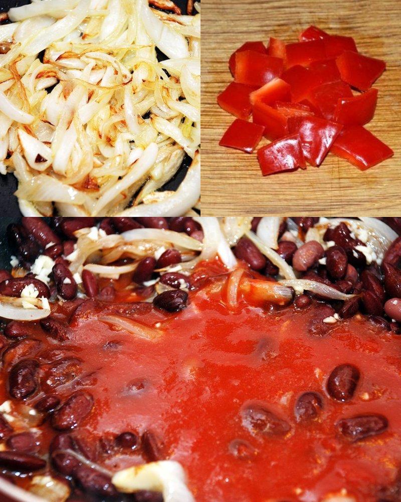 тушеная фасоль в томатном соусе