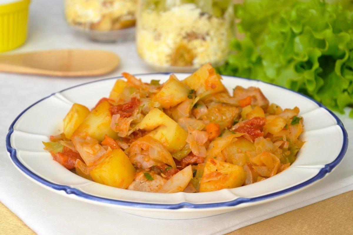 капуста с картофелем