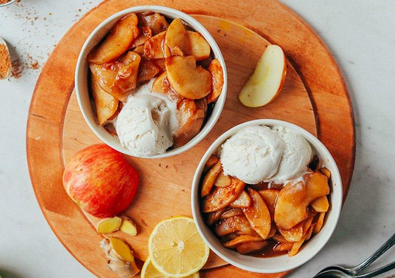 диетический десерт из яблок