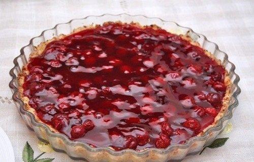 вишневый пирог с желатином