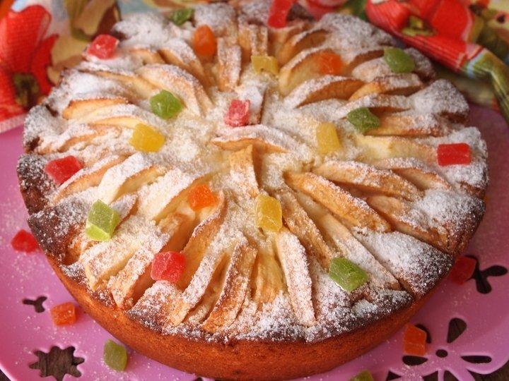 яблочно-творожный пирог фото рецепт