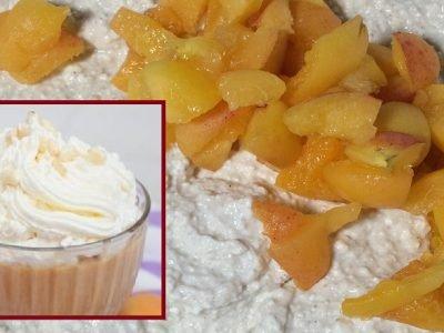 Творожное суфле с абрикосами