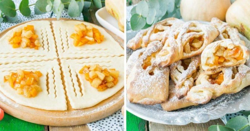 Творожные булочки с яблоками