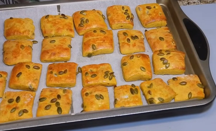 печиво з гарбузовим пюре і насінням