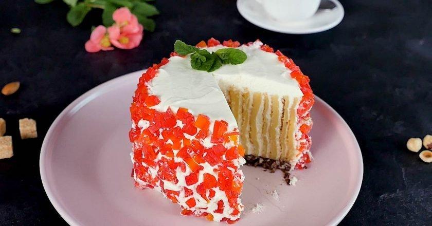 Ванильный торт без муки