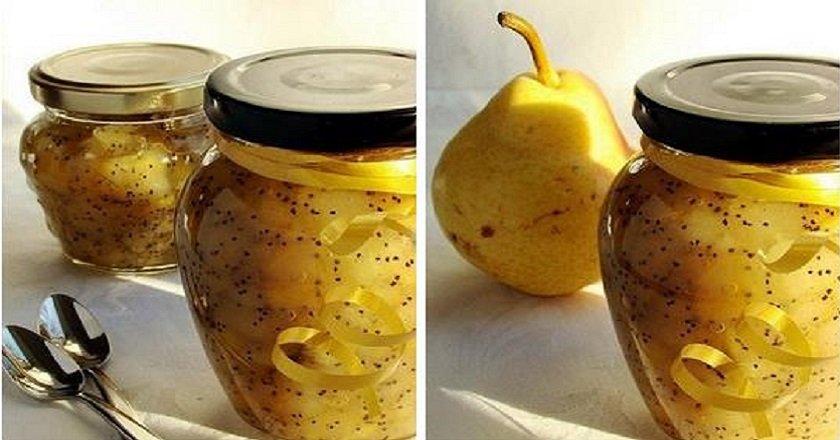 Варенье из груш с маком