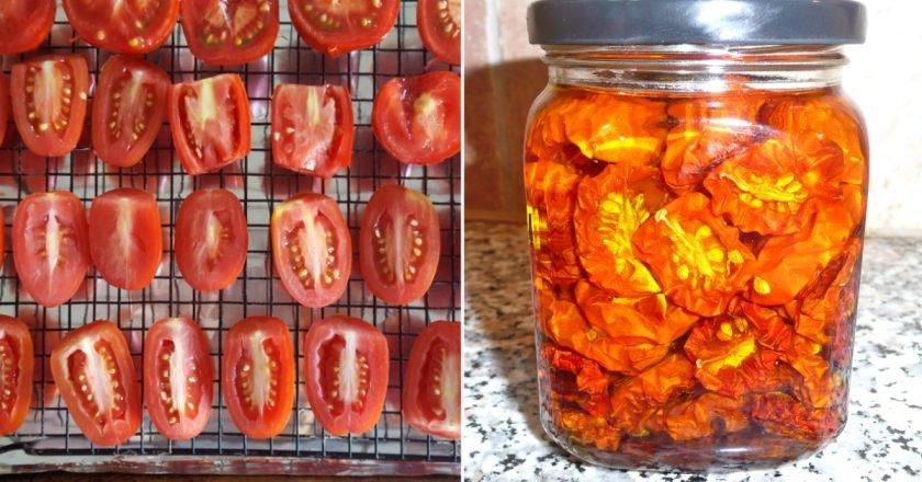 Suszone pomidory w piekarniku