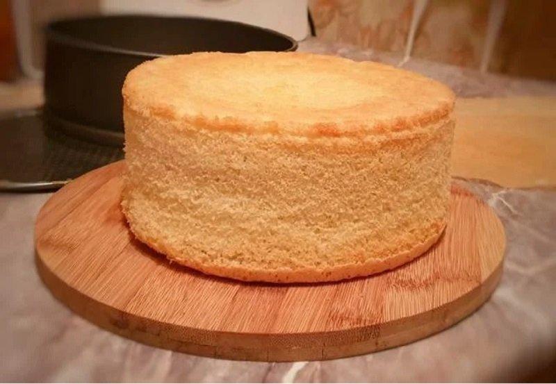 как испечь высокий бисквит