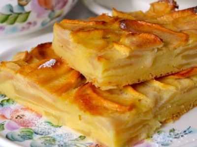 Яблочный пирог из Франции