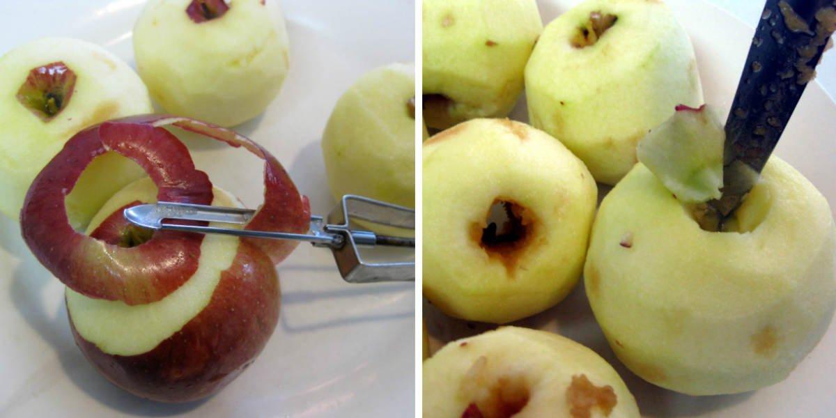как чистить яблоки