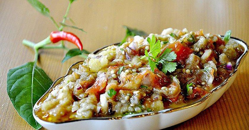 Греческая закуска из баклажан