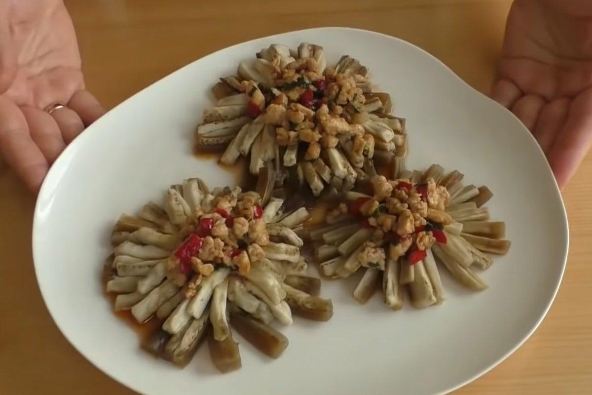 готовая закуска из баклажанов на пару