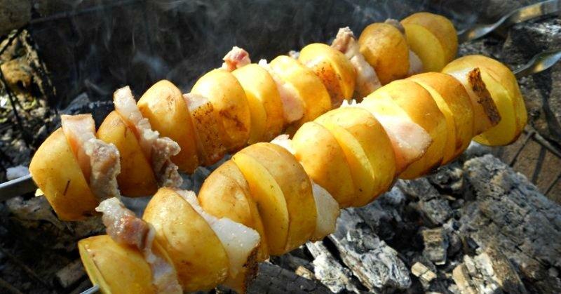 кебаб из картофеля фото