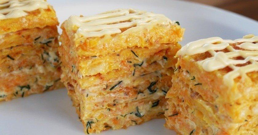 Закусочный торт из тыквы