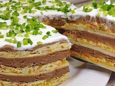 Закусочный торт «Праздничный»