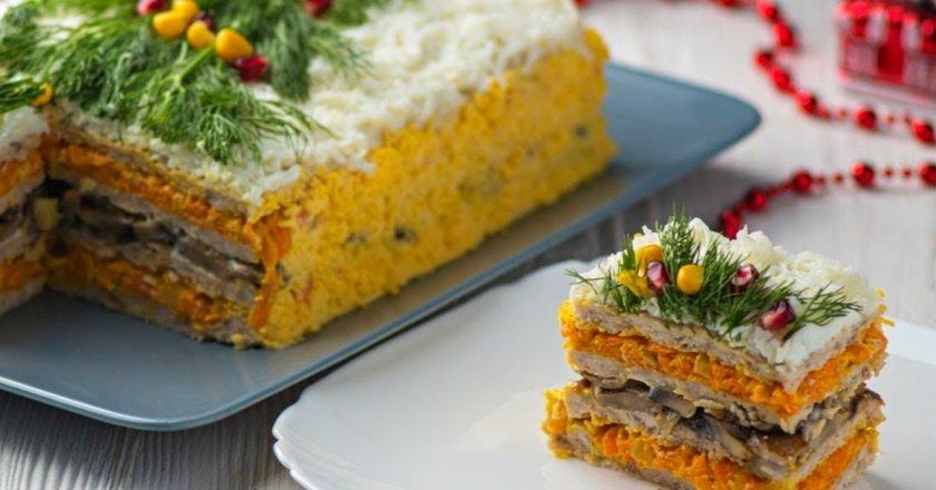 Закусочный торт с мясом