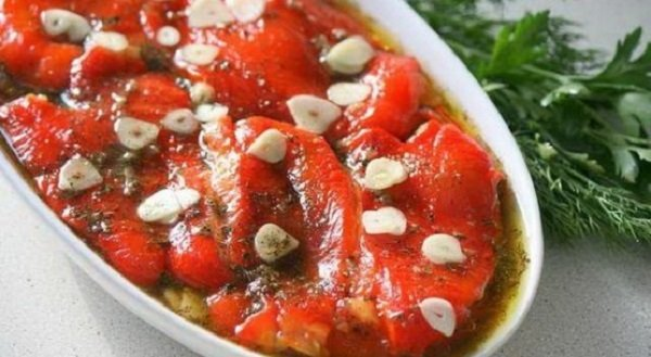 запеченный перец в маринаде, пошаговый рецепт