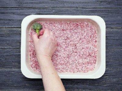 Запеканка из брокколи с рисом