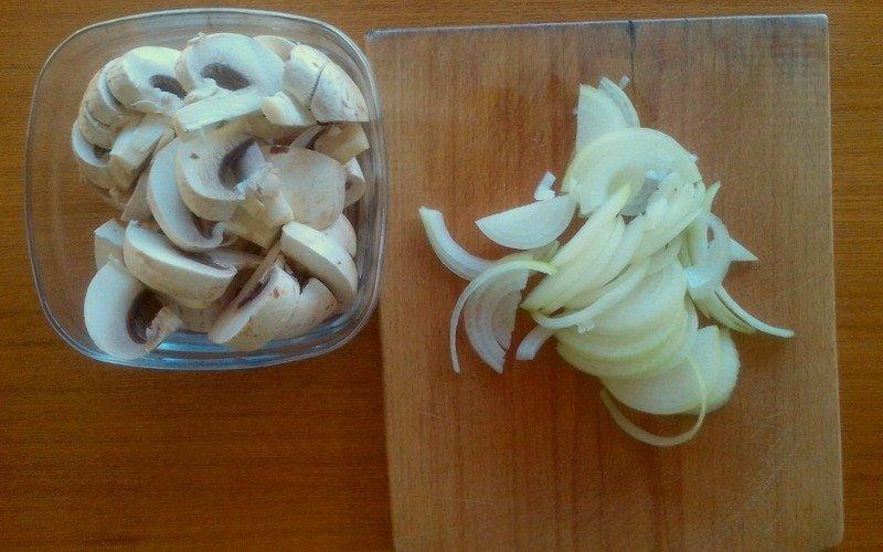 запеканка с курицей и грибами
