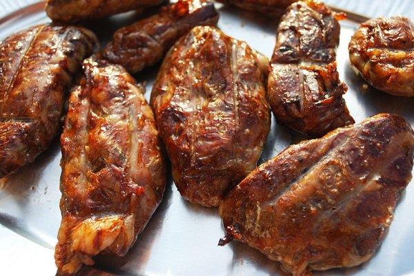 жареная говяжья печень