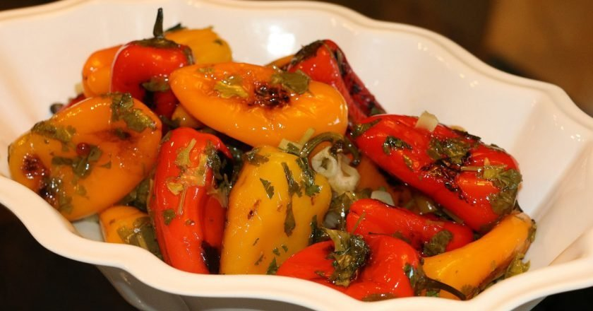 Жареные болгарские перцы